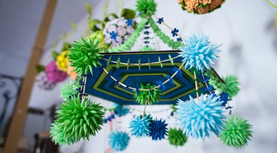 dekoracje wielkanocne - pająk wielkanocny