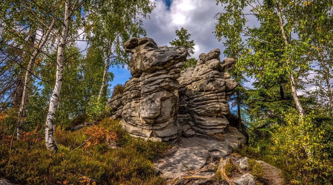 błędne skały w górach stołowych