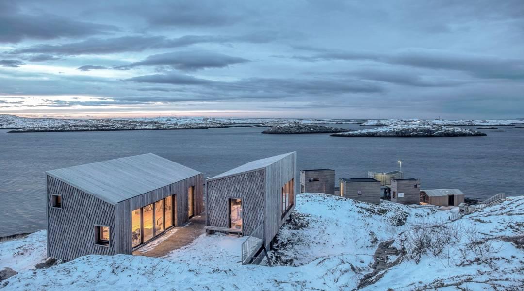 prywatna wyspa norwegia zima