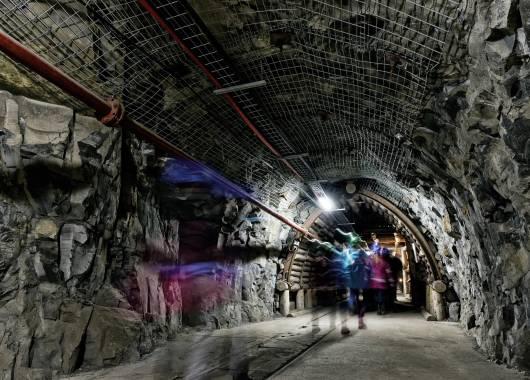 Wnętrza kopalni Guido w Zabrzu
