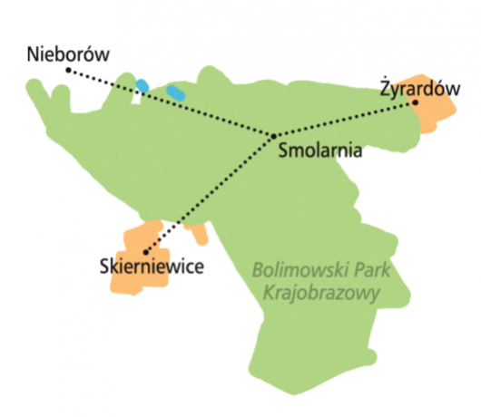 trasy rowerowe puszcza bolimowska