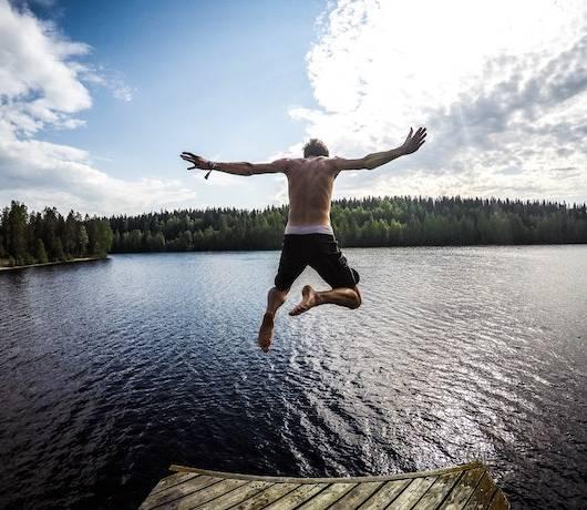 jezioro finlandia