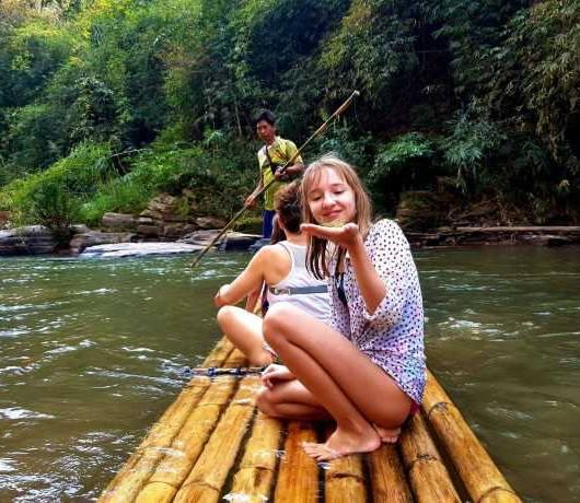 egzotyczna wycieczka z dziećmi