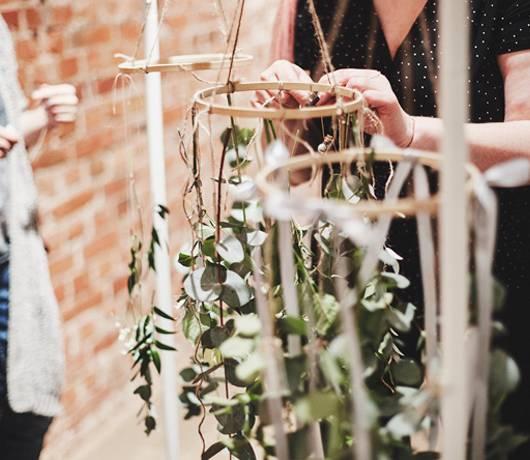 kwiatowy żyrandol jak zrobić - halo warsztaty bez plastiku