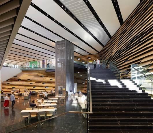 wnętrze muzeum designu w szkocji