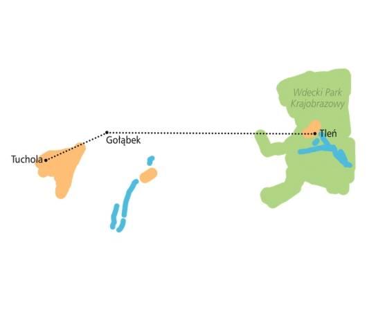trasa rowerowa bory tucholskie