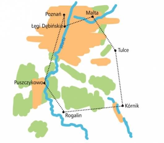mapa ścieżek rowerowych poznań