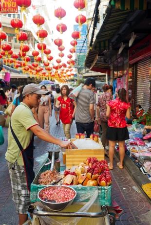 Smażony satay w China Town