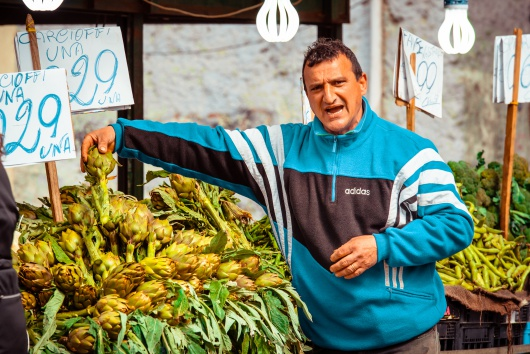 Włochy  Ballaro sprzedawcy