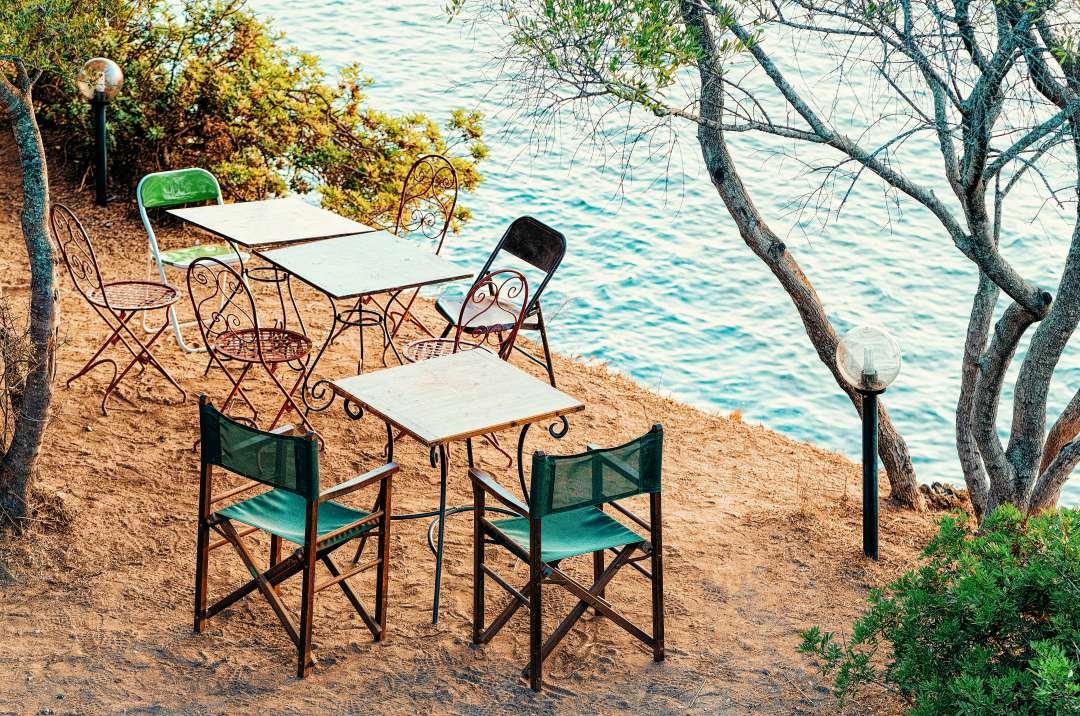 Sardynia atrakcje kawiarnia Costa Smeralda