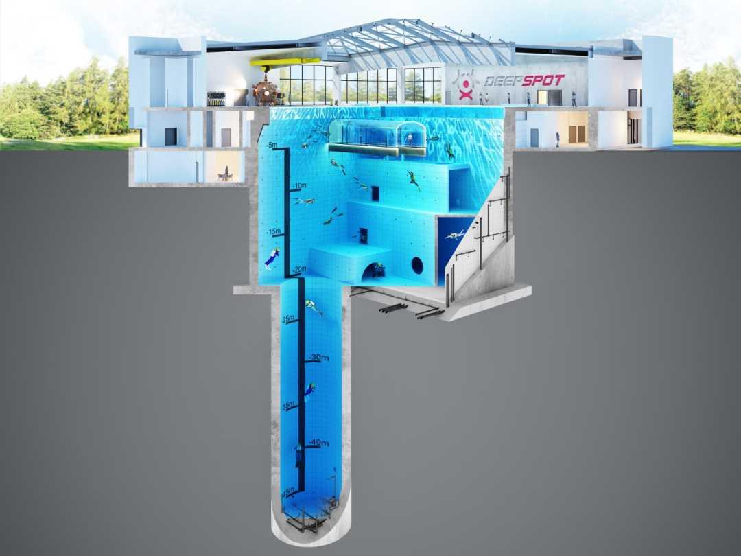 basen dla nurków flyspot wizualizacja