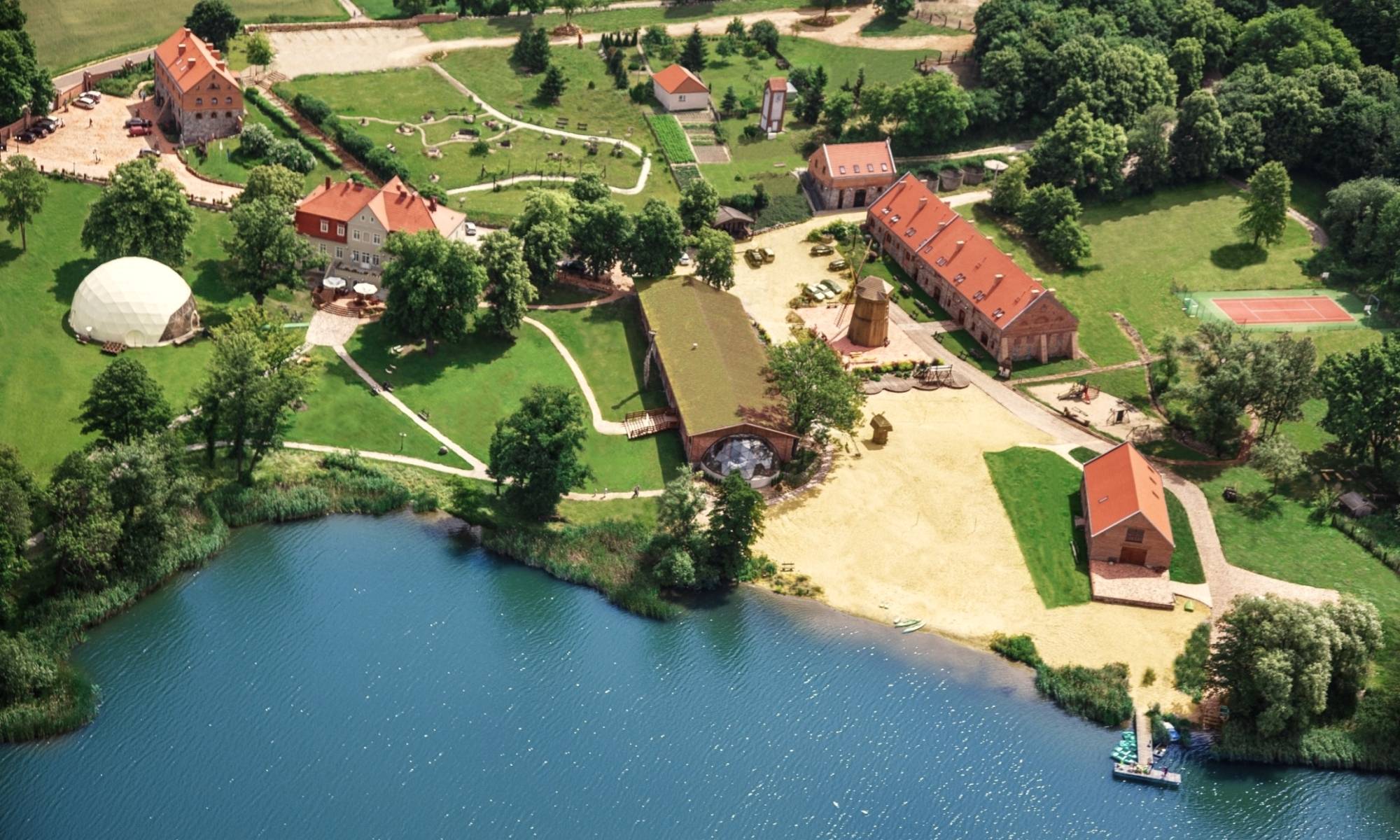 Hotel Olandia – skansen we wsi Prusim