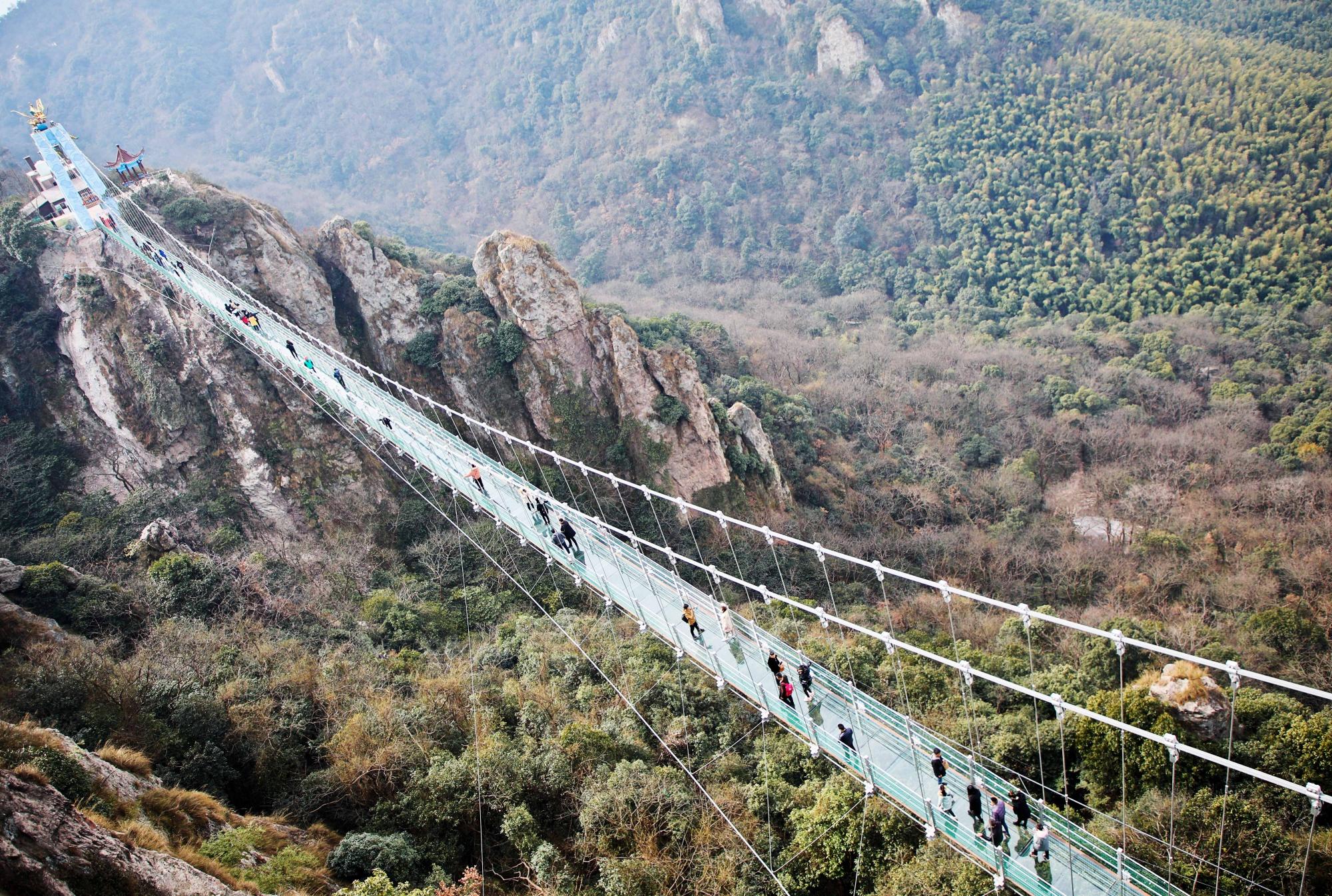 Chiny: Najdłuższy most nad przepaścią